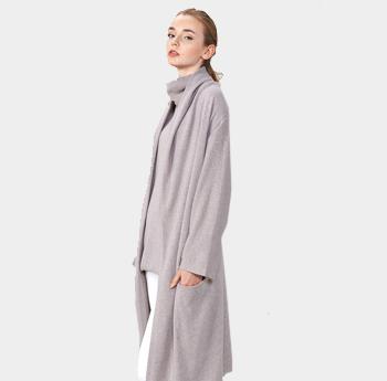 新款简约慵懒长款外套